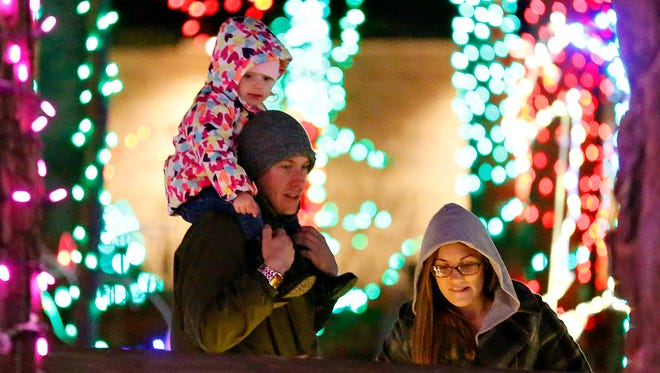 Christmas Magic, A Festival of Lights, is shown at Rocky Ridge County Park in York, Pa. on Sunday, Nov. 29, 2015. (Dawn J. Sagert - The York Dispatch)