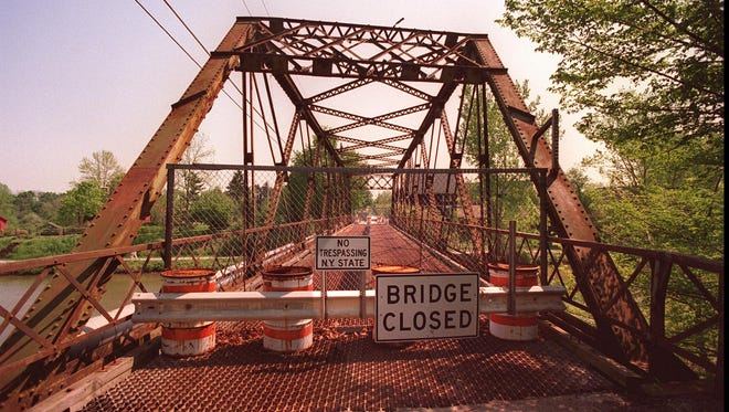 The Mitchell Road bridge in Pittsford was closed from 1988 until 1997.