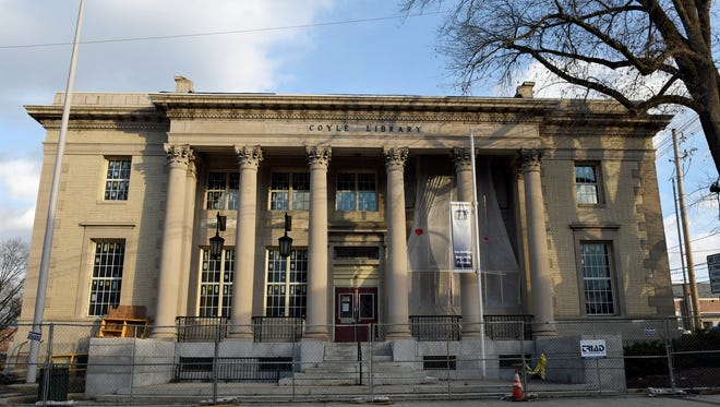 Coyle Free Library construction continues Friday, December 9, 2016. The library just received a grant to assist with building additions and refurbishment.