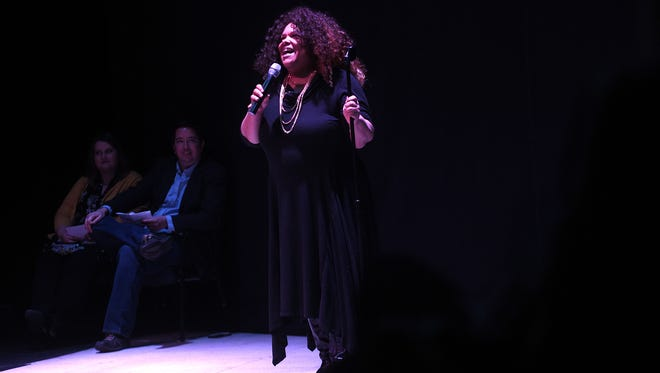 """The Reno Storytellers Project """"Love and Heartbreak"""" at the Reno Little Theater on March 1, 2018."""