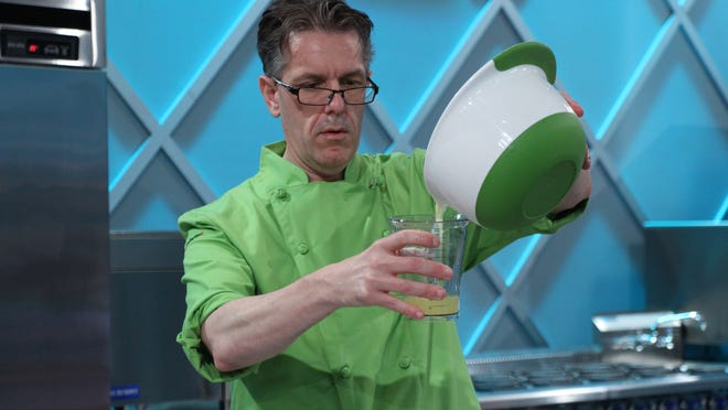 """Marlboro High School graduate Steven Weiss makes ice cream on the Food Network show """"King of Cones"""" in an episode to air at 8 p.m. Aug. 18."""