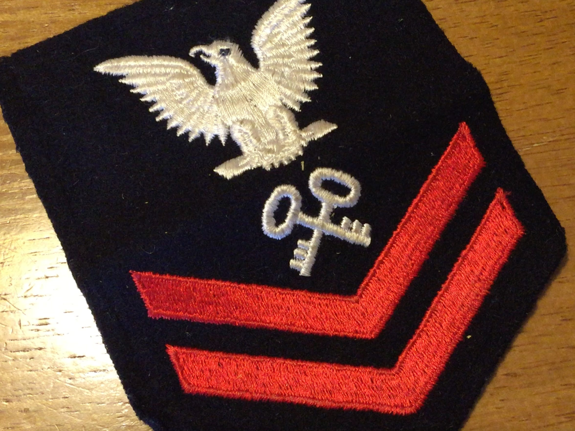 James Reardon's Navy rank insignia.