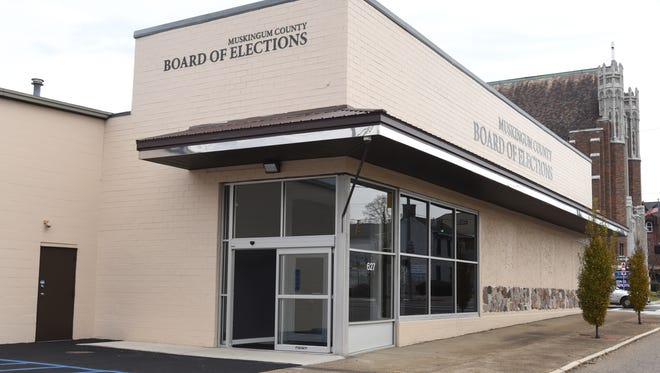 The Muskingum County Board of Elections held its first election Tuesday after moving to its new location on Market Street in downtown Zanesville.