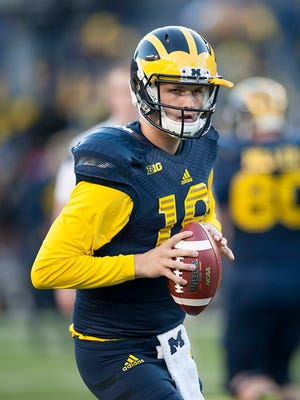 Wilton Speight, pictured, Shane Morris and Alex Malzone will be competing at the quarterback position in spring practice.