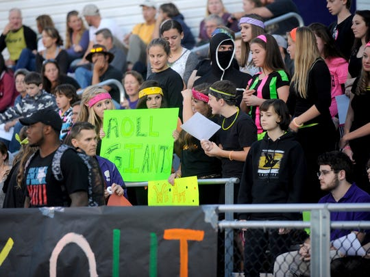 Fans at Waynesboro cheer on the Little Giants during their game against Spotswood on Friday. The Little Giants won, 34-21.
