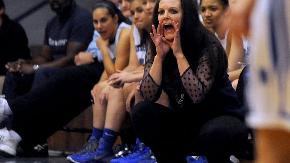 McDowell girls basketball coach Jennifer Brooks.