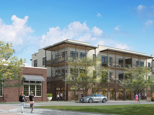A rendering of The Warfield, a mixed-use condo development, that could open in downtown Pensacola in late spring 2018.