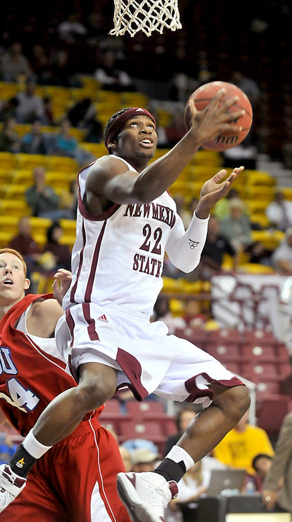Former New Mexico State guard, shown here in a game