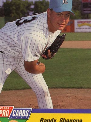 Randy Shagena Fort Gratiot's Randy Shagena is pictured on an Elmira Pioneers baseball card in 1994. Shagena, a 1990 Port Huron Northern graduate, spent a year with the Pioneers, going 3-2 with one save and a 4.27 earned-run average in 21 games primarily in a middle-relief role.