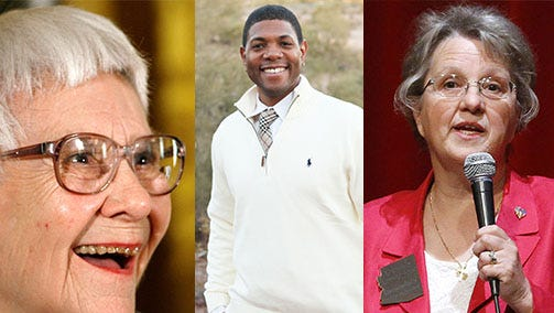 Today on What the Friday we review a week in which news was made by a racist, a plagiarist and an egotist -- the fictional Atticus Finch (Say it ain't so!), troubled ASU history professor Matthew Whitaker and dazed and confused state schools superintendent Diane Douglas.