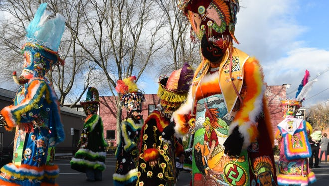 The Chinelos, Mexican customed dancers, perform during the 2016 Sinterklaas Day in Rhinebeck.