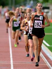 Ipswich's Macy Heinz competes in the 3200-meter run