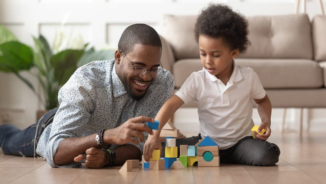 A parent or caregiver's engagement in play while building on the contribution that toys can make has a positive impact on a child's development.