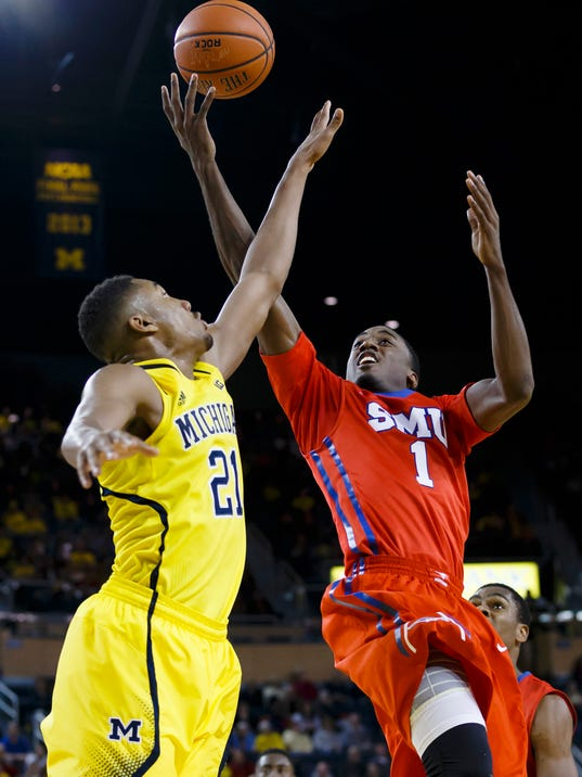 NCAA Basketball: Southern Methodist at Michigan