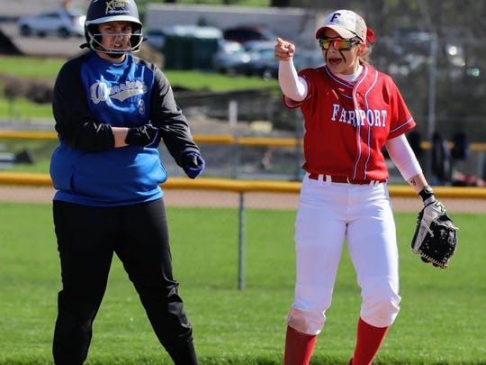 Fairport second baseman Victoria Catalano is a fourth-year varsity player who earned sixth-team all-state honors last spring.