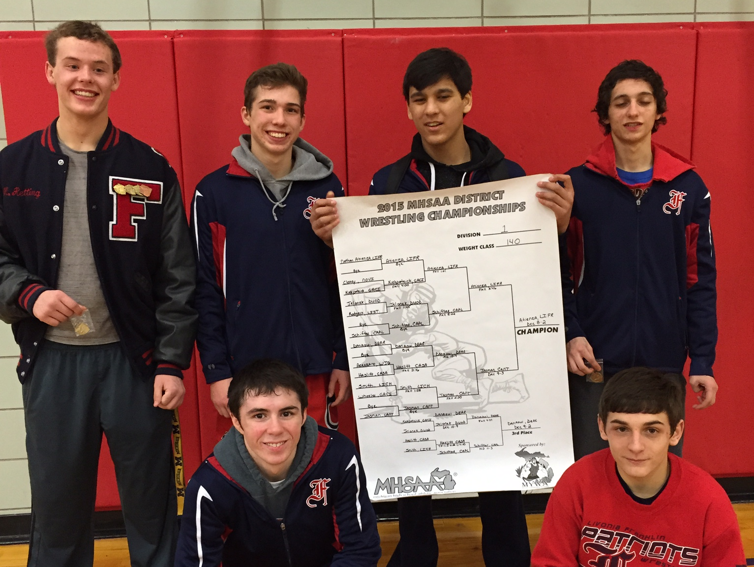 Pictured are Livonia Franklin's six regional qualifiers.