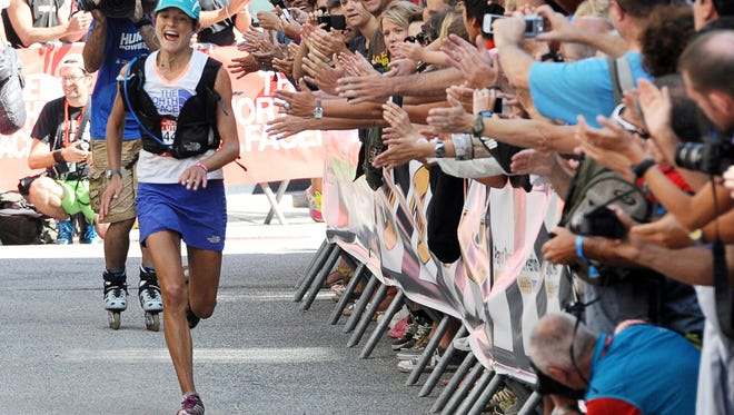 American Rory Bosio runs to be the first woman to finish the 2013 Ultra Trail race in August, a 168-kilometer run around Mont Blanc, crossing France, Italy and Switzerland.