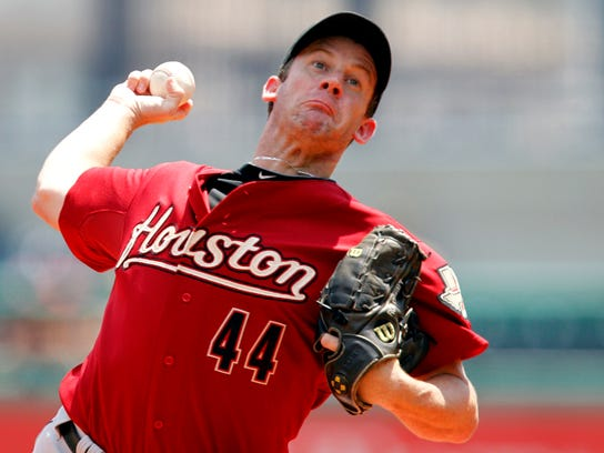 Roy Oswalt delivers a pitch for the Astros in 2010.