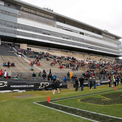Purdue's home finale on Nov. 19 saw lots of empty seats