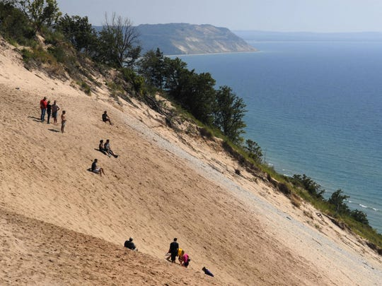 The Sleeping Bear National Lakeshore is great place to hike or cool off from the summer heat at Lake Michigan.