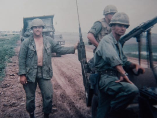 Jim Byrd, right, in Vietnam in 1968.