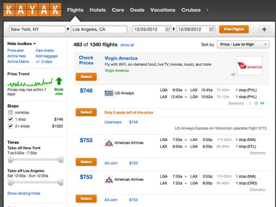 Fliers check travel sites then buy from airline sites for Online buying sites in usa