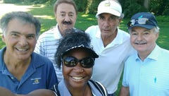 Sandra Thompson golfs with Sopranos actor in first outing since cops called at Grandview