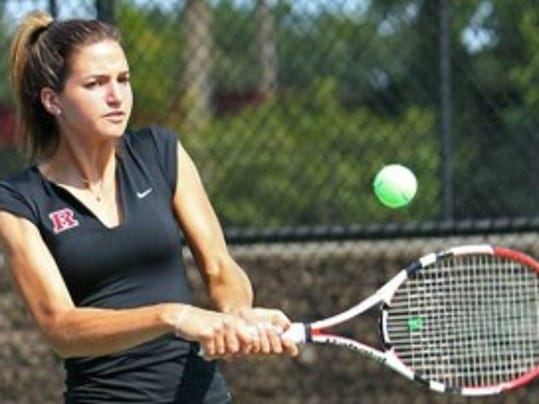 Lindsay Balsamo, a rising senior from Wall Township, finished 15-1 at No. 5 singles and 12-9 at doubles in helping the Scarlet Knights finish 16-5 this past spring.  (Photo courtesy of Rutgers Athletics)