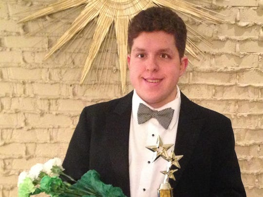 """John Henrikson is playing the part of the young lover in MSU's """"La Scala di Seta."""""""