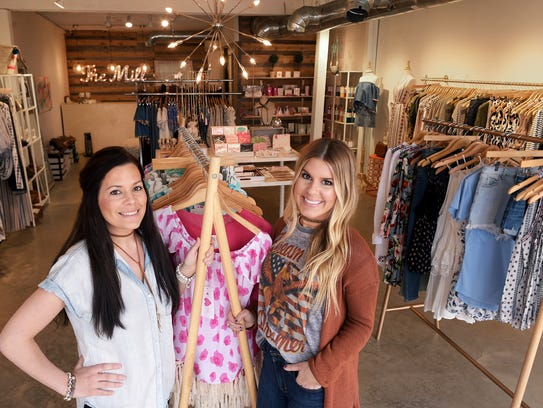 The Mill Boutique's owners Lauren Miller and Allie
