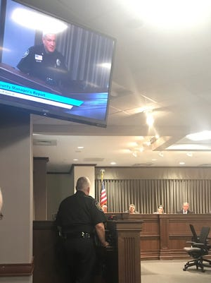 Sheriff Van Duncan faced Buncombe County commissioners in person a week after taking issue with a proposal made by three board members regarding police policies.