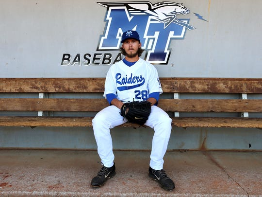 MTSU senior Zac Curtis is the nation's strikeout leader.
