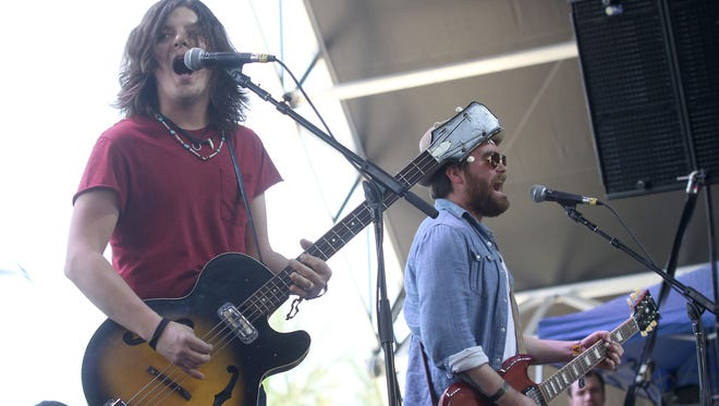 the Wild Feathers perform at the Stagecoach Festival Friday, April 25, 2014.
