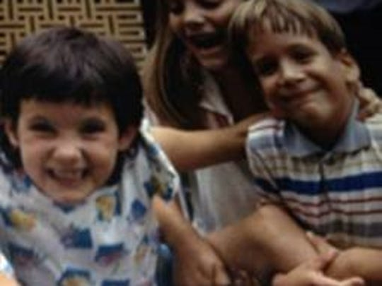 Jen Barry and Chip Murphy in kindergarten in 1985.