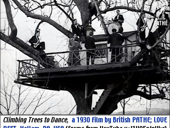 """""""Climbing Trees to Dance,"""" a 1930 Film by British PATHE;"""
