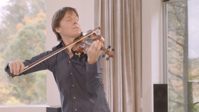 A screenshot from the virtual performance of Joshua Bell to kick off Music Worcester's season.