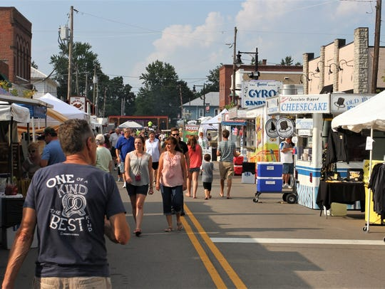 The Pataskala Street Fair, which takes over Main Street
