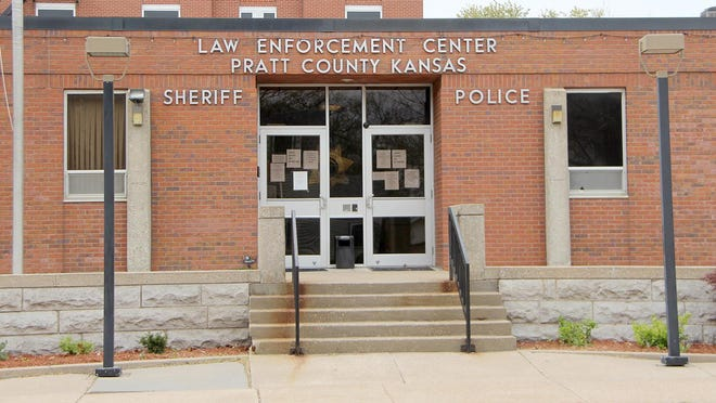 Pratt County Sheriff works to keep novel coronavirus contaminents out of county headquarters.