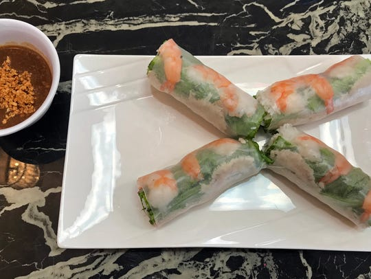 Spring Rolls with shrimp and pork at Saigon Noodles,
