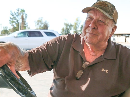 Longtime Blythe resident Earl Lloyd talks about whether marijuana should be sold legally in his town, November 10, 2016.