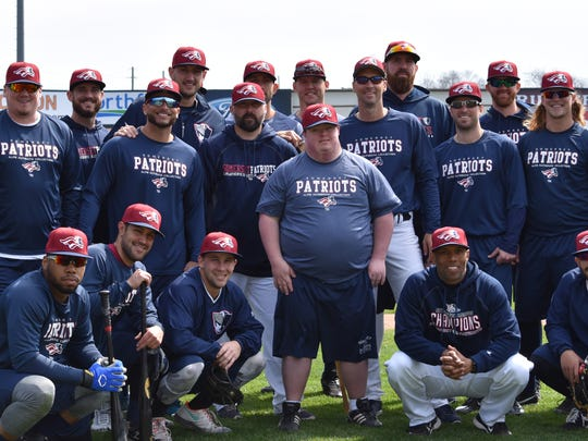 "Special Olympian Andrew Gamache, known as ""Mr. Social"" for his infectious smile and soulful laugh, worked out with the team as they prepared for the upcoming season."