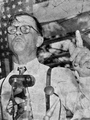 Gov. Gene Talmadge was known for his speeches.