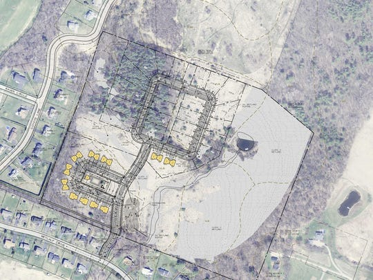 Plans for a proposed 40-unit housing development in Williston next to Northridge is shown in this submission to the town's Development Review Board.