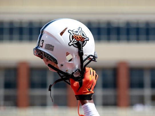 Oklahoma State wore five different helmets in the 2016