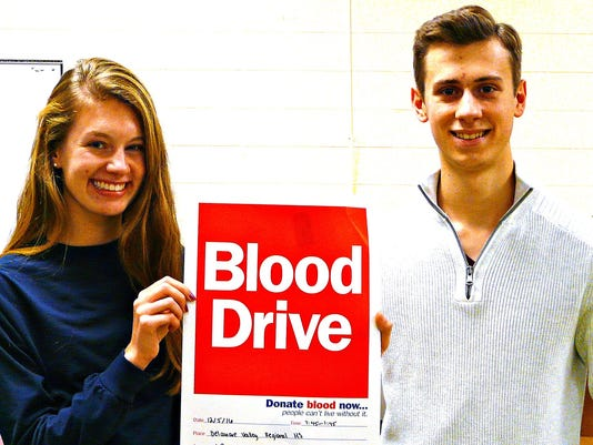 Alexandria Township: Blood drive on Dec. 5 PHOTO CAPTION