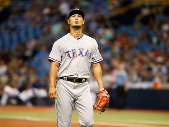 Yu Darvish struck out 12 in the Rangers' extra-inning