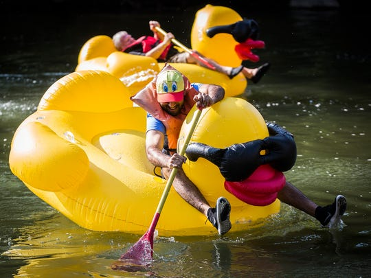 Participants in a past Ducky Derby are shown in this file photo.