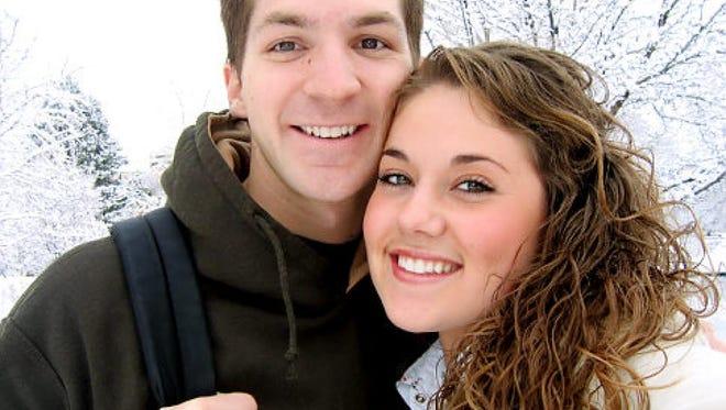 John Jones, left, and his wife, Emily Dawn Jones.
