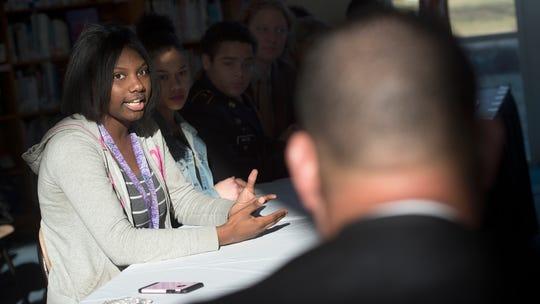 Shaniece Holmes-Brown, an 11th grader at William Penn