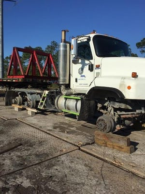 Florida Power & Light Co. said trucks are being targeted in theft cases. This is from an incident in Jupiter.